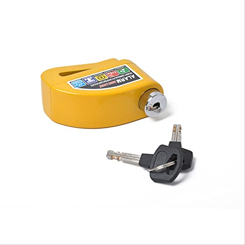 HHBB Alarma antirrobo de freno de disco de seguridad alarma de seguridad de la motocicleta de la cerradura de seguridad de la bicicleta amarillo