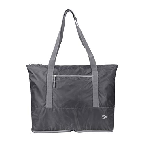 Travelon: Packable Folding Tote Bag - Charcoal
