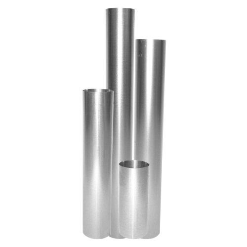 Ofenrohr feueraluminiert (FAL), gerade, rostfrei - Rauchrohr, Kaminrohr silber - für Pellettofen und Kamine - geprüft nach EN 1856-2, Maße: Länge: 750 mm x Ø 130 mm