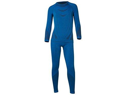 CRIVIT® SPORTS Kinder Jungen Skiunterwäsche, 2-teilig (Blau, 134-140)