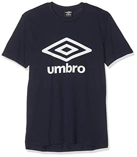 Umbro Herren Fw Large Logo Cotton Tee T-Shirt, Blau (Dark Navy Y70)