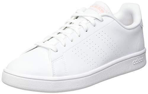 adidas Advantage Base, Scarpe da Tennis Donna, Ftwr White/Glow Pink/Core Black, 39 1/3 EU