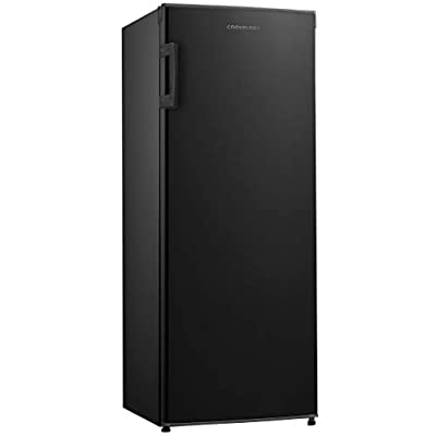 Cookology CTFZ160BK Tall Freestanding Upright Freezer in Black | 55x142cm Metal Back