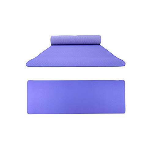 Tappetino yoga ecologico |Tappetini yoga antiscivolo a doppio colore Tpe Eco Friendly Sport all'aria aperta Attrezzature per il fitness Tappetini per esercizi Allenamento Body building Mats-Blue -