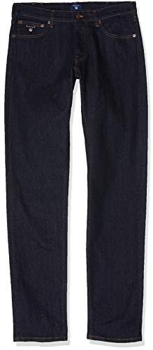 GANT Herren Slim Twill Chino Freizeithose, Dark Blue, 33/32
