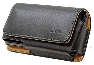 Cellet LG Leon LTE (Oversized Case to accommodate Case or Cover on Your Phone) Horizontal Leather Case Pouch Built in Magnetic Flap and Swivel Belt Clip