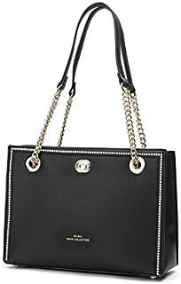 حقيبة يد نسائية بسيطة بإطار مطرز من SAGA