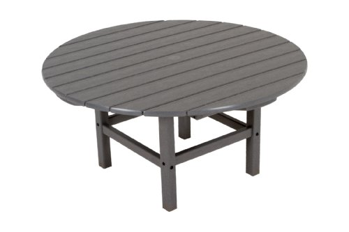 POLYWOOD RCT38GY Round 38' Conversation Table, Slate Grey