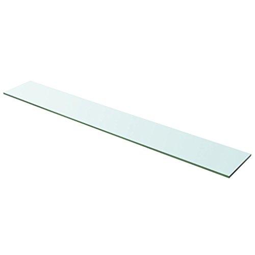 Festnight Ersatzteile Glas Regalboden Glasboden Glas Einlegeboden Max. Tragfähigkeit 15 kg 100 x 15 cm Transparent