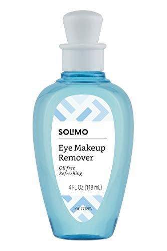Amazon Brand - Solimo Oil-Free Eye Makeup Remover, 4 Fluid Ounce (Pack of 6)