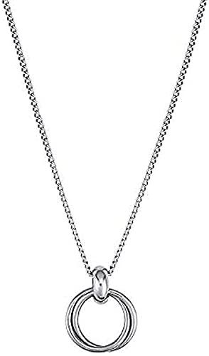 ZGYFJCH Co.,ltd Collares Collar de Moda Estilo Retro exagerado Anillo Colgante de Anillo Europeo y Americano Collar de Cadena Gruesa Mujeres