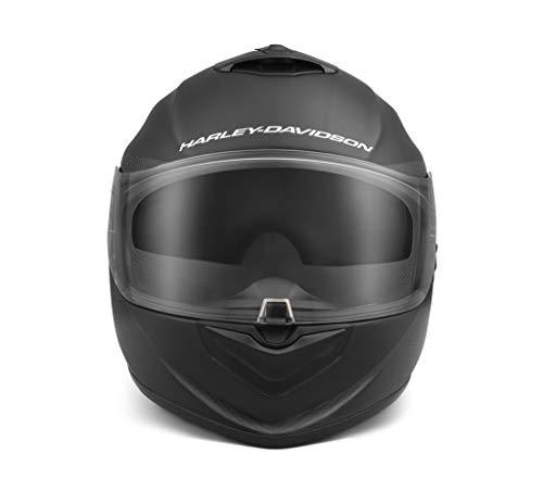 Harley-Davidson Herren Integralhelm Brawler Carbon Fiber X09 Motorradhelm Full Face mit Sun Shield Helm Schwarz, L