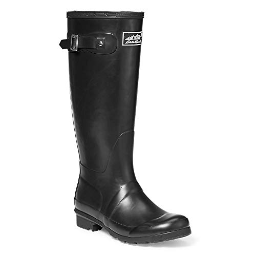Eddie Bauer Women's Rain Pac Boots, Black Regular 9M