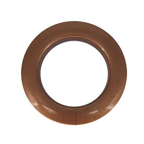 Uteruik 42mm kunststof ogen met ringen voor gordijnen, gordijnen of dekzeilen bruin, 10 stuks