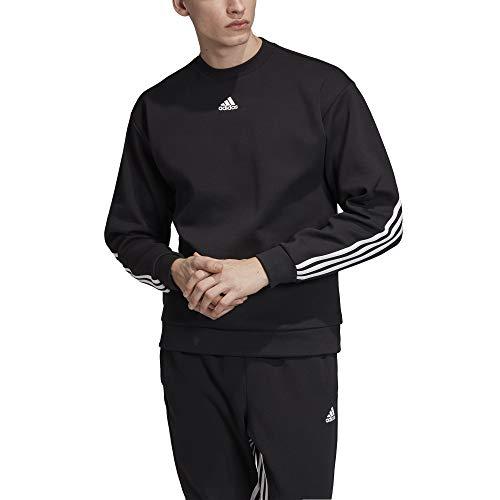 adidas Herren M MH 3S Crew Sweatshirt, Black/White, M