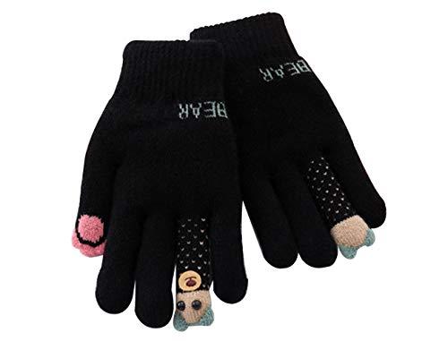 TANPAUL Kinder Handschuhe Mädchen Jungen Winter Strickhandschuhe Warm Cartoon Verdicke Kinderhandschuhe Weich Handwärmer Vollfingerhandschuhe mit Plüsch Futter Winterhandschuhe für Laufen Outdoor