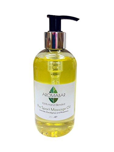 Post Sport- Massageöl 250ml 100% Natürliche Öle mit Lavendel, Rosmarin & Wacholderbeere Reine Ätherische Öle Parabenfrei