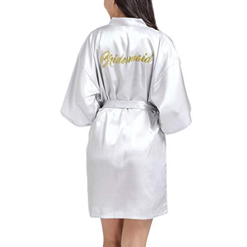 qiansu Robe Hochzeit Brautjungfer Roben Pyjama Robe Weibliche Nachtwäsche Bademantel Nachthemd Nachthemd
