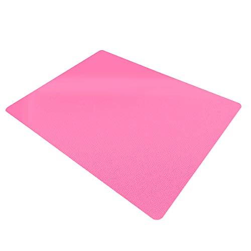 Certeo Bodenschutzmatte | BxH 75 x 120 cm | PP | Hart- und Teppichboden | Rosa | Stuhlunterlage Bürostuhlunterlage Bodenschutz Schutzmatte