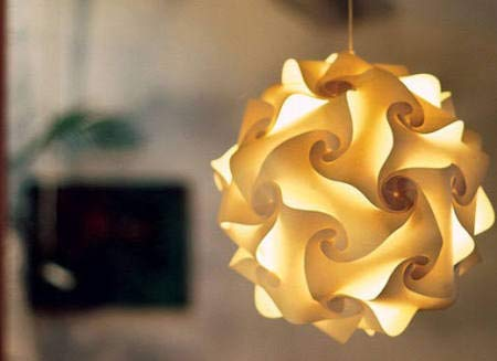 Design Kugellampe Papier I Hängelampe I klein Ø 27 cm I Lampenmanufaktur Oberkirch I Büttenpapier I Papier I Papierleuchte Kugelleuchte Stehlampe Lichtobjekt I