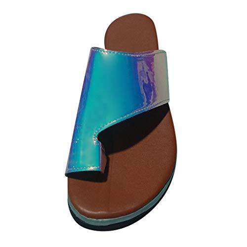 Read About COPPEN Womens Open Toe Flat Sandals Retro Cut Out PU Leather Sandals Casual Summer Shoes ...