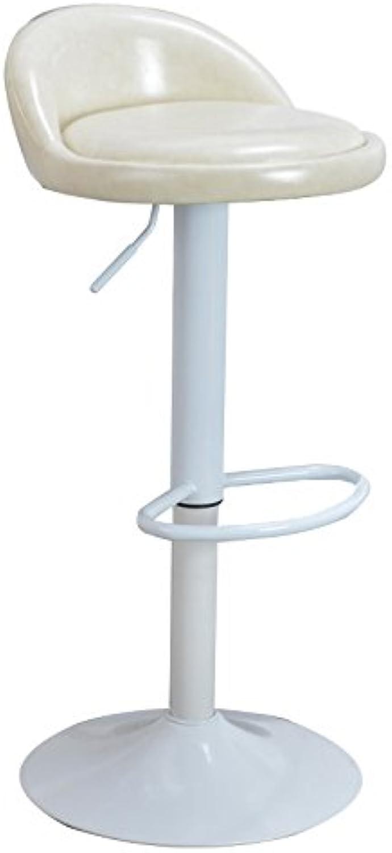 Ghjkl Oil Wax bar Chair Lift bar Stool Fashion Simple Home Leisure Chair high Stool high 60cm-80cm -by TIANTA (color   White)