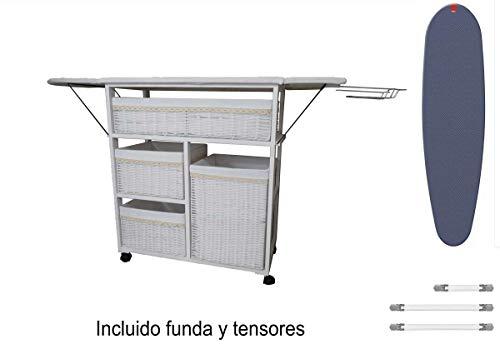 pequeño y compacto Mueble Hierro Meyvaser Lisbon Blanco + Tapa y Tensor