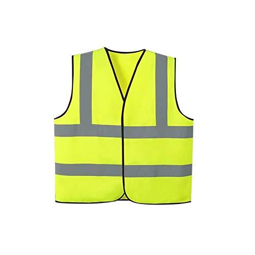 DYecHenG Chaleco de Seguridad Chaleco Reflectante de Alta Visibilidad, Ropa Unisex Noche Riding Running Reflectantes for Trabajadores de tráfico para Seguridad y Protección