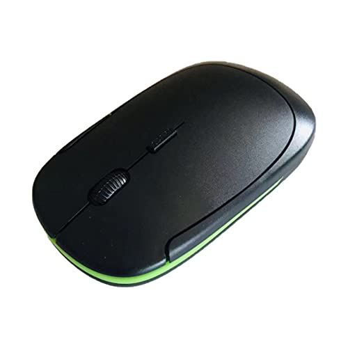 Ba30DEllylelly Mouse ottico senza fili USB Mini 1600DPI ultra-sottile da 2,4 GHz progettato ergonomico per PC portatile JP-350