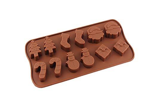 Moule à chocolats en silicone sans bisphénol A 11 moules Weihnachten