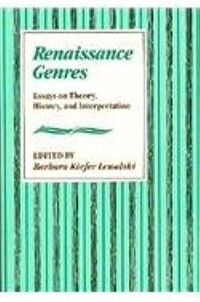 amazoncom renaissance genres essays on theory history and  renaissance genres essays on theory history and interpretation harvard  english studies first edition edition