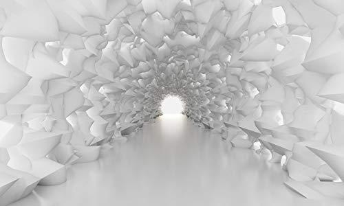 Fototapete Kristalltunnel Eishöhle weiß Premium Vlies 200g/m², B x H:ca. 450 x 270 cm