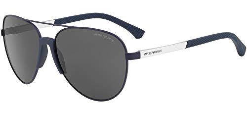Armani sunglasses for men and women Emporio Armani EA2059 Blue 320287 Aviator with Double Bridge