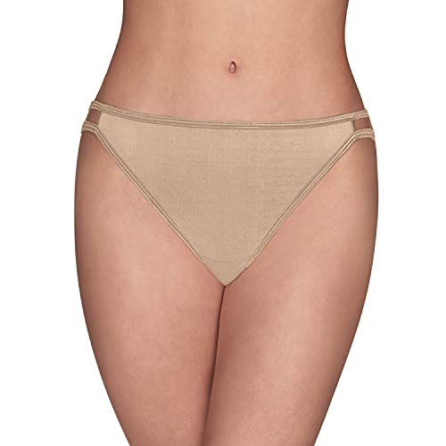 Vanity Fair Women's Illumination String Bikini Panties (Regular & Plus Size), Rose Beige, 7