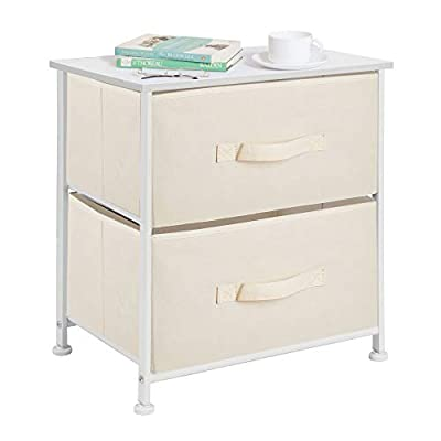 mDesign Night Stand/End Table Storage Tower with 2 Drawers
