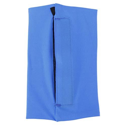 yotijar De brazo deportivo suave cinturón de brazo para móvil de carrera, bolso de cinturón negro – azul, S