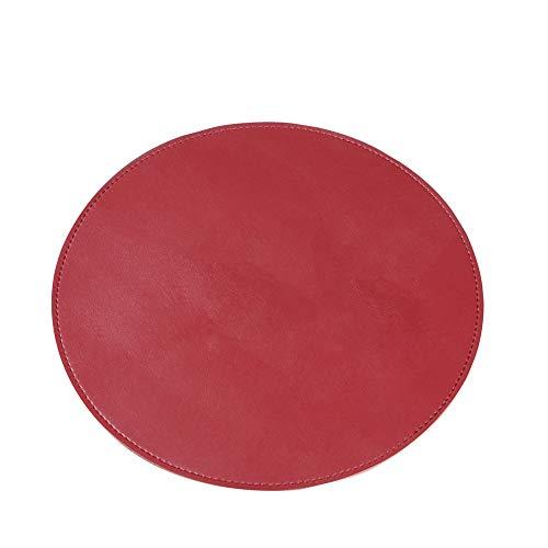 Demarkt–Alfombrilla Circular para ratón, Alfombrilla de Piel Resistente con Parte Inferior Antideslizante, Apta para Todo Tipo de Mouse Tipos de Color marrón Claro