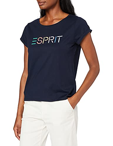 Esprit Damen 990EE1K305 T-Shirt, 400/NAVY, S
