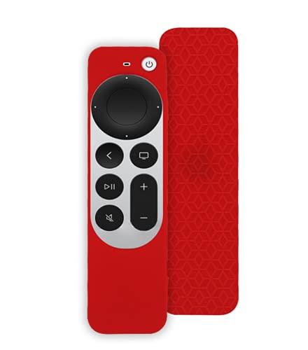 Funda de Silicona Suave Todo Incluido para Apple TV 4K Remote Controller 2021,Funda Protectora de Repuesto,protección de Cuerpo Completo,Funda a Prueba de Golpes,antiarañazos,cómodo,Ligero y práctico