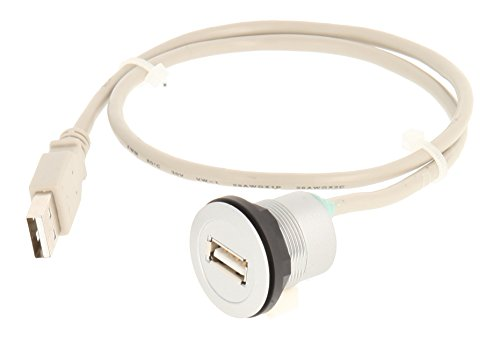 Schlegel 23.001.540USB femmina con anteriore, 1X USB femmina, tipo A e posteriori, 1X USB2.0della lunghezza del cavo 60cm con connettore di tipo A, argento
