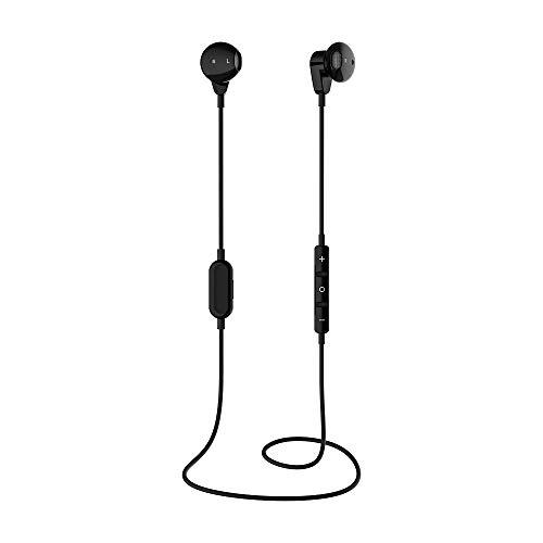 Auriculares deportivos inalámbricos, potente reserva de energía compatible con varios sistemas con función Bluetooth, fácil de controlar música con una mano (color XY01 negro)