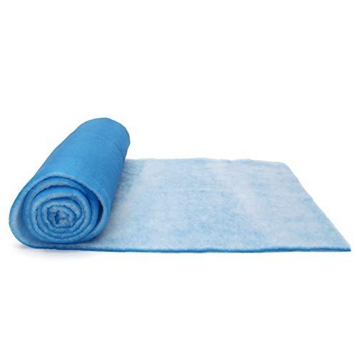 Graciella Poliéster de Fibra de Aire de 20 mm Filtro Grueso de la Pintura en Spray Car Shop Filtro de la Cabina de Aire Panel de extracción de la Materia Azul/Blanco Impermeable Graciella