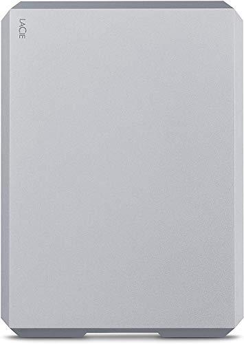 LaCie Mobile Drive, 2 TB , External Hard Drive HDD – Moon Silver, USB-C...