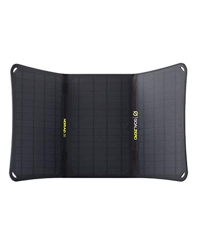 Goal Zero Nomad 20, Foldable Monocrystalline 20 Watt Solar Panel with 8mm + USB Port, Portable Solar Panel Charger. Lightweight 18-22V 20W Solar Panel Charger with Adjustable Kickstand