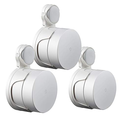 STANSTAR Outlet Wall Mount for Google Mesh WiFi System(2020 Model,Round Plug), Sturdy WiFi Holder for Google Mesh WiFi Router, Excellent Cord Management Without Screws.(3Pack)