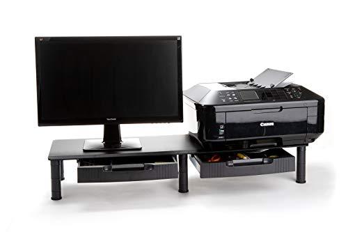 Mind Reader DUBMODR-BLK Large Dual Stand for Computer...