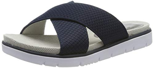 Jana 100% comfort Damen 8-8-27103-22 Pantoletten, Blau (Navy Comb 890), 38 EU