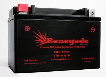ATV Battery; RG9-BS; Arctic Cat (2004, 2005, 2006, 2007, 2008) DVX 400, DVX 400 TS / (2009, 2010, 2011, 2012, 2013, 2014, 2015, 2016, 2017) 150,150 2x4; Part# ES9BS, BTX9-BS, UTX9, TYX9-BS