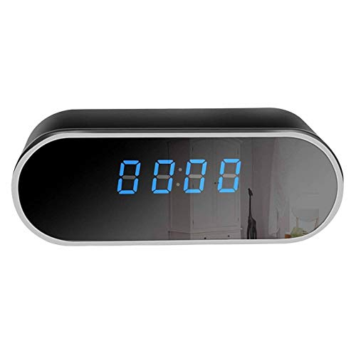 The perseids Cámara Espía Corprit Inalámbrica Oculta HD 1080p, Cámara de Seguridad y Reloj Alarma de Sobremesa en Forma de Cubo Negro, para el Hogar y la Vigilancia