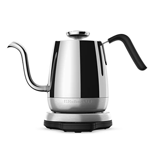 KitchenAid KEK1032SS Precision Gooseneck Digital Electric Kettle, 1 Liter, Stainless Steel